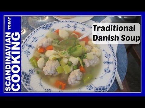 Danish Meatball and Dumpling Soup -  Oksekødssuppe med kødboller og melboller - YouTube