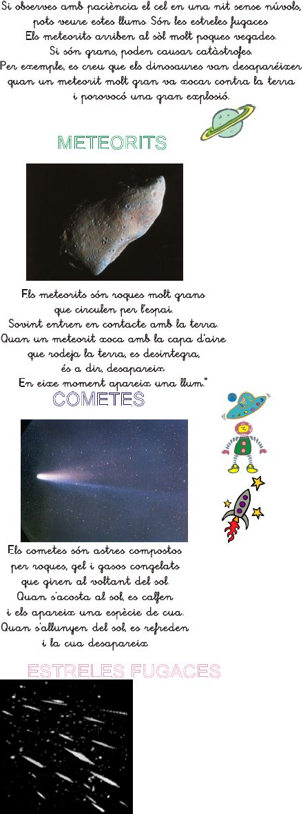 Sistema Solar:meteoritos,cometas...