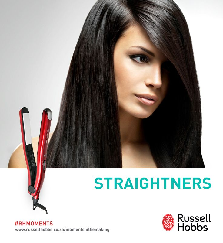 Here are our 4 best hair straightening tips. With you and a Russell Hobbs Hair Iron, straight and beautiful hair is possible.  1. After blow-drying curly hair straight, wear it with a side part.  2. For the sleekest results use a 1500- to 1800-watt hair dryer when styling. 3. Don't try to blow-dry sections of hair that are more than an inch thick. 4. Look for styling products that don't list water as one of the first five ingredients