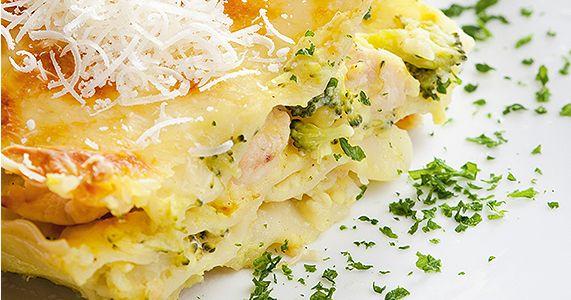Lasagne zindykiem ibrokułami