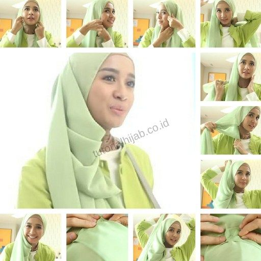 Tutorial Hijab Laudya Cynthia Bella Segi Empat Hijabfest