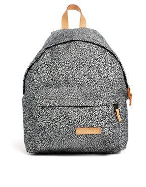 Eastpak Padded Pak R in Cheetah Print with Leather Trim