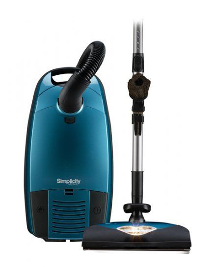 "The ""Can-Do"" canister vacuum you can't do without! Model: Moxie.4, Color: Deep Sky Blue #simplicity #canister #vacuum"