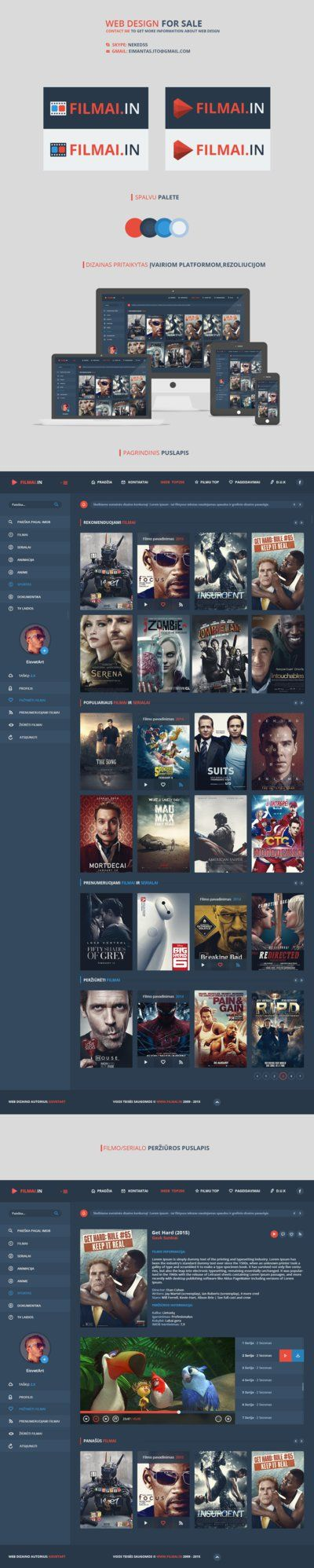 Movie / Films Online [ Web design ] - FOR SALE by iEimiz on DeviantArt
