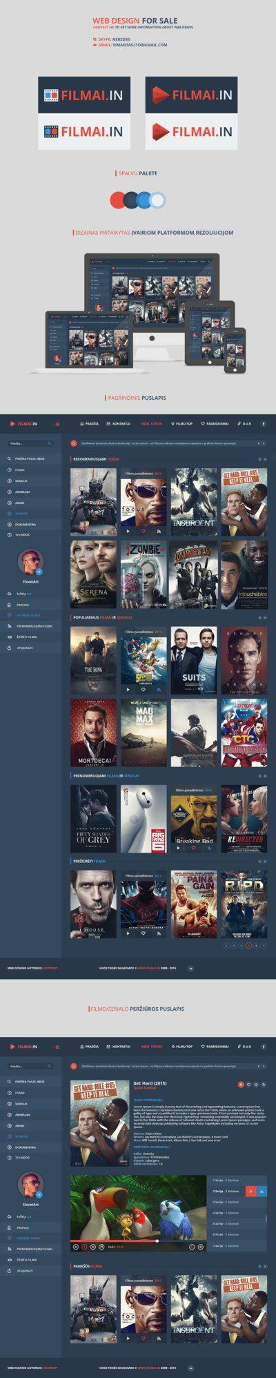 Movie / Films Online [ Web design ] - FOR SALE by iEimiz on DeviantArt