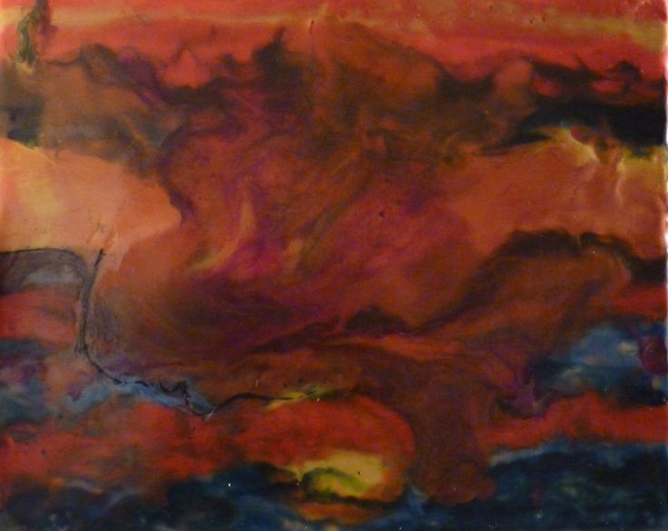 """Part of my 52 week project.  This is week #1.  All pieces are 8""""x10"""", encaustic wax."""