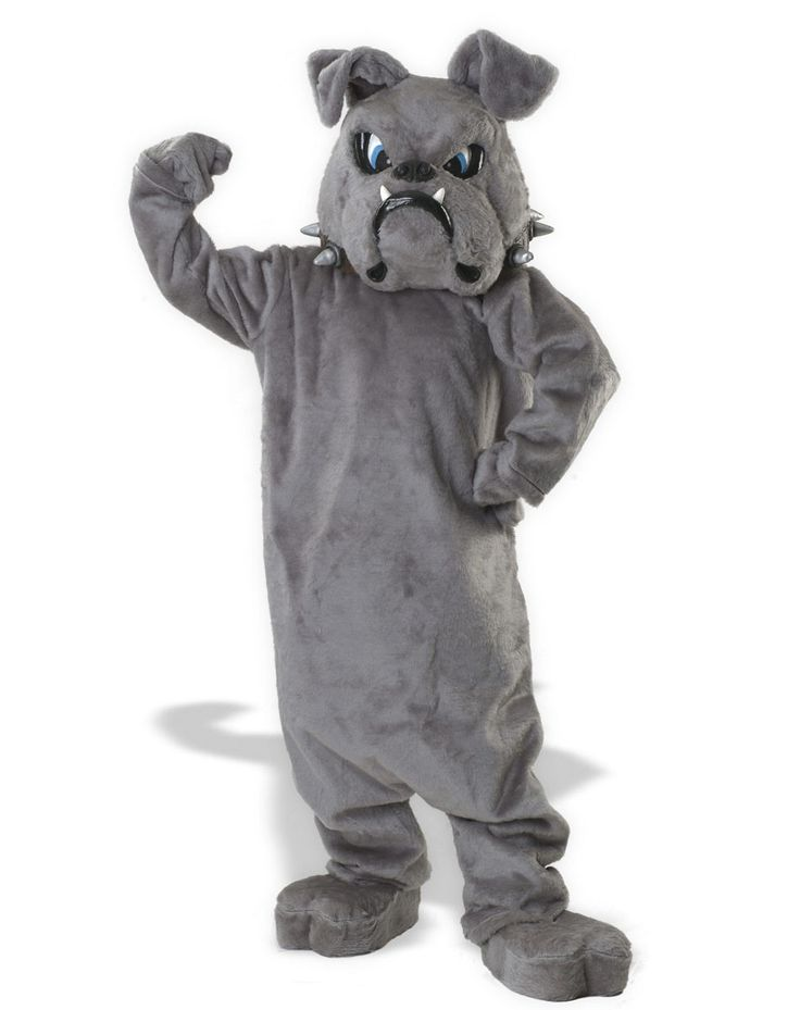 Bulldog Mascot Costume One Size Fits Most