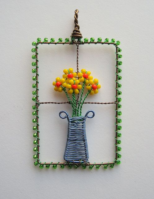 Flowers in the Window (SOLD) by Louise Goodchild, via Flickr