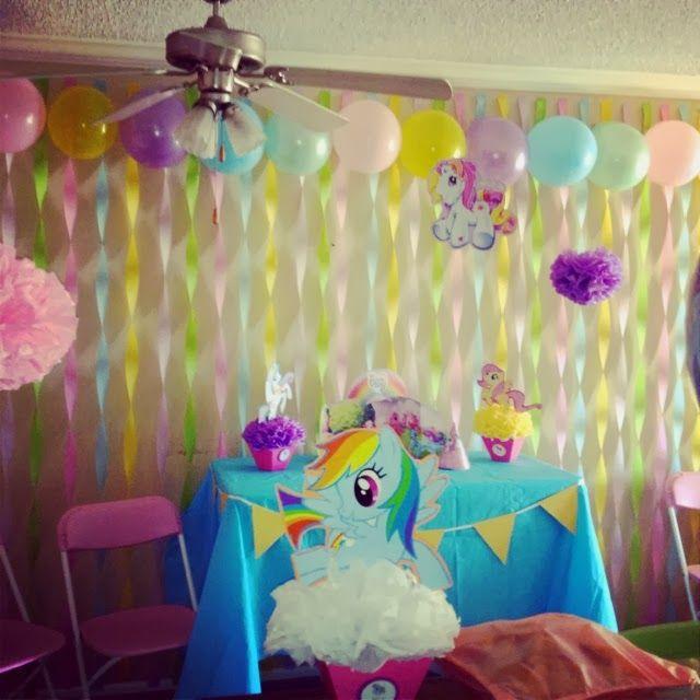 Decoración de Fiesta de Cumpleaños de My Little Pony . Había prometido a los fans de la página de Facebook Fiestas Infantiles Decoración , c...