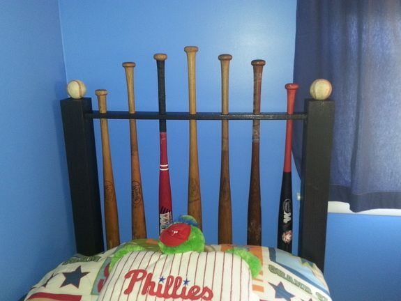 Baseball Bat headboard DIY