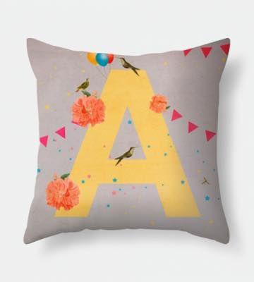 Letter A pillow