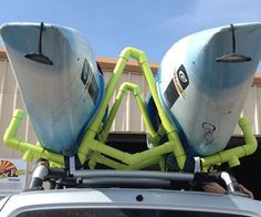 INTRODUCTION Roof racks for carrying 1+ kayaks can get pretty expensive (at least $100) for a transporting a single kayak and even more additional kayaks. This Instructable will show you how to build and mount a PVC Kayak Roof Rack/Carrier to your vehicle that can carry one or two kayaks. The total cost of this in its most basic form is about $80 (as of 2013). As shown in the pictures it is about $100 (as of 2013). DISCLAIMER: I take no credit for this design, this Kayak Roof Rack/Carrier is…