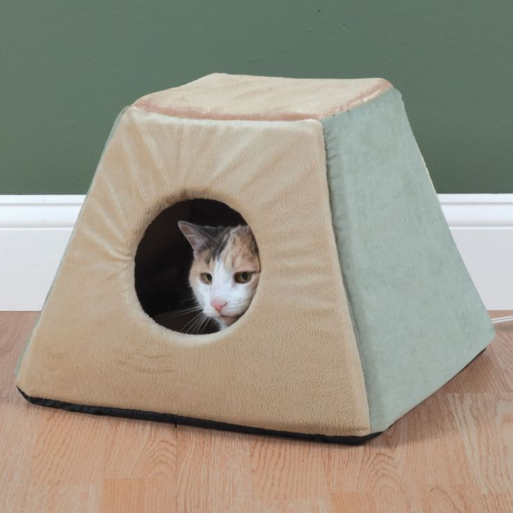 The Best Heated Cat Bed - Hammacher Schlemmer - This heated cat bed earned The Best rating from the Hammacher Schlemmer Institute after a cat behaviorist concluded that pets preferred it to all other models.