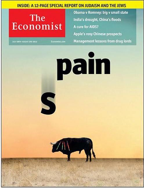 """'The Economist' dedica su portada al """"dolor"""" de España"""