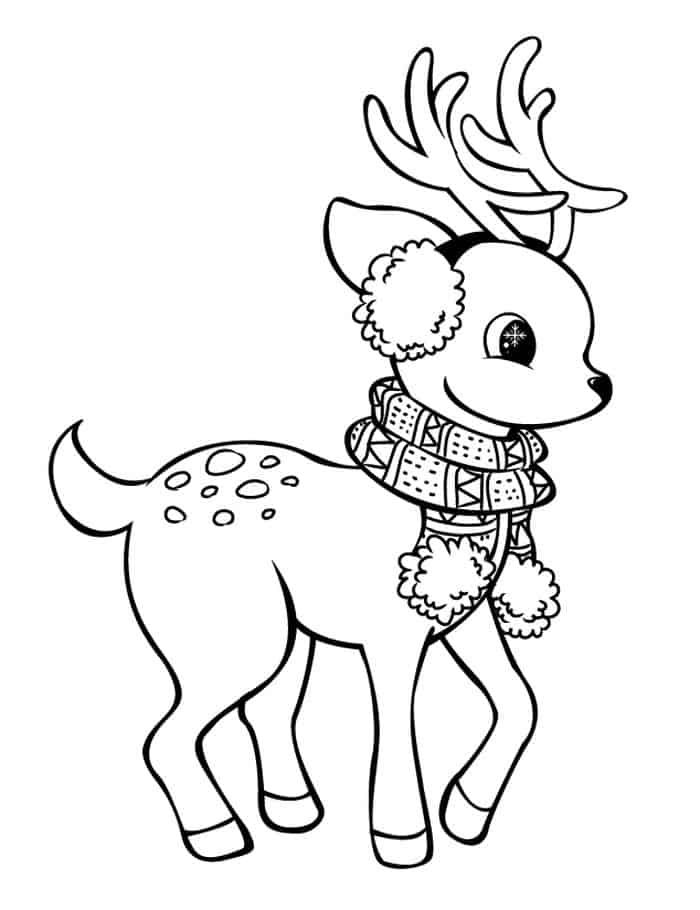 Deer Coloring Pages In 2020 Christmas Coloring Pages Reindeer