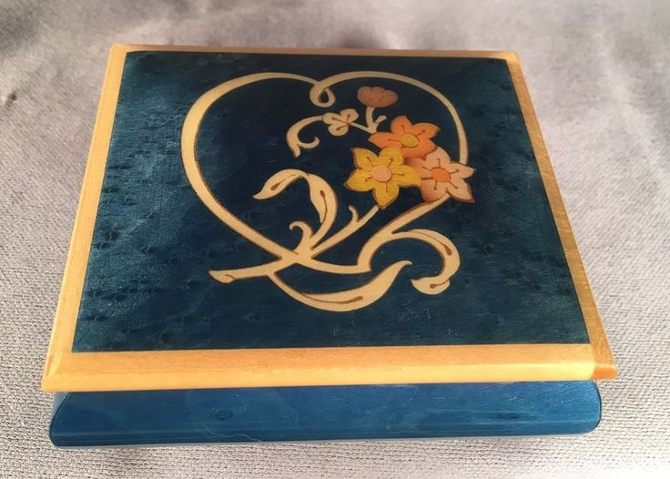 Wooden Musical Jewelry Box Romance Made In Italy 'Music Box Dancer' #Romance