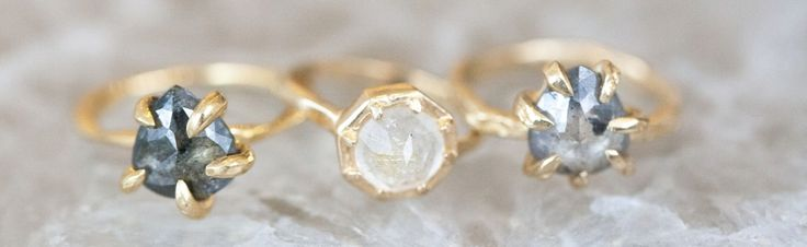 Alternative engagement rings to lust lover. @thelane. Follow us @kwhbridal