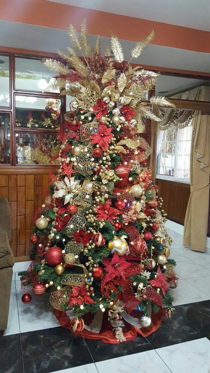Los Tradicionales Rojo Y Dorado Holiday Decor Christmas Tree Decor
