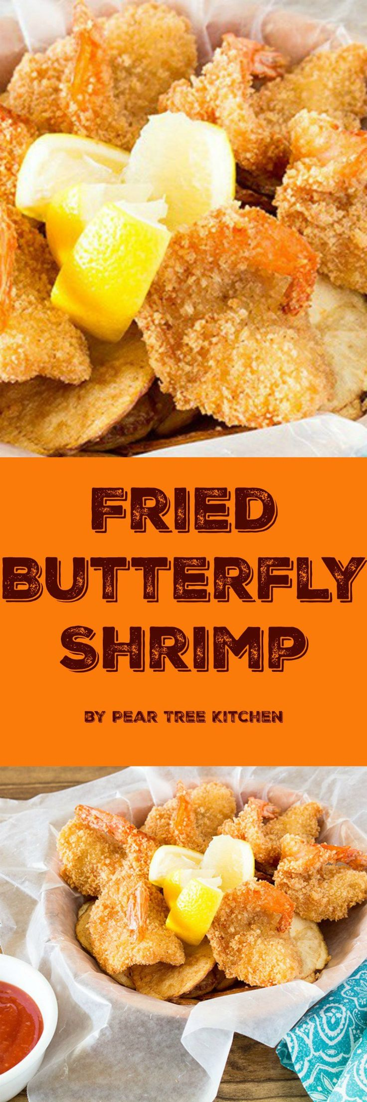 Crunchy, Golden Brown Butterfly Shrimp is easy to make at home. Tastier than fast food or frozen.
