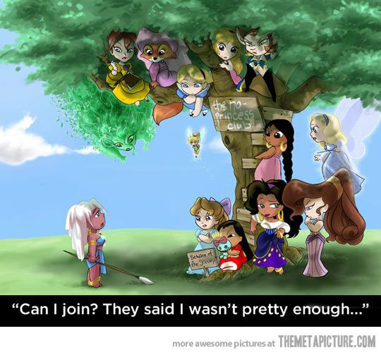 The Disney No-Princess Club… Jane, Maid Marian, Alice, Eilonwy, Captain Amelia, Shanti, Blue Fairy, Megara, Esmerelda, Lilo, Wendy, and Kida.