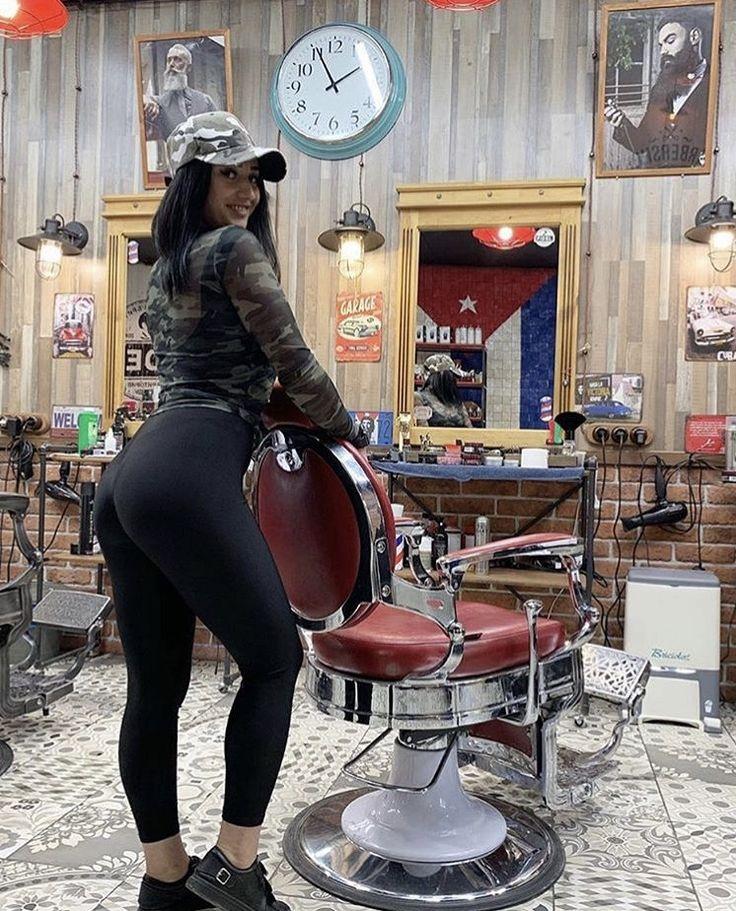 shop Busty girl barber
