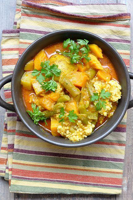Thermomix przepisy Wegetariańskie curry z dynią #thermomix #curry