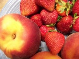 Strawberries and Peaches smoothie