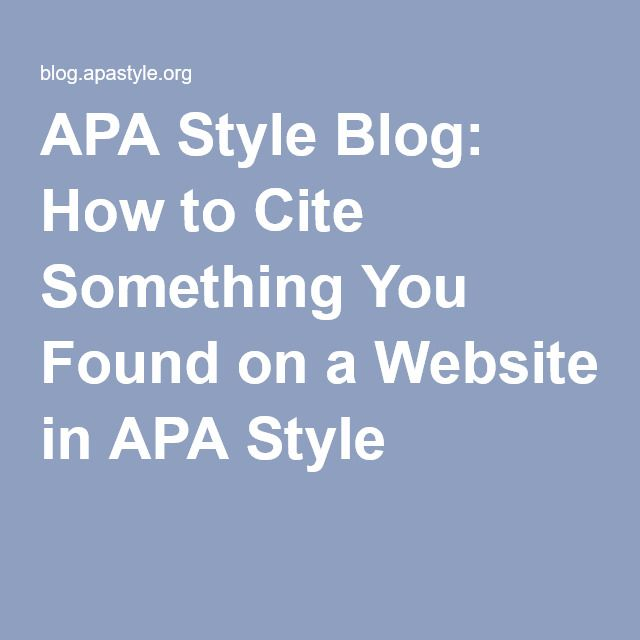 Quote Apa: Best 25+ Apa Style Reference Ideas On Pinterest