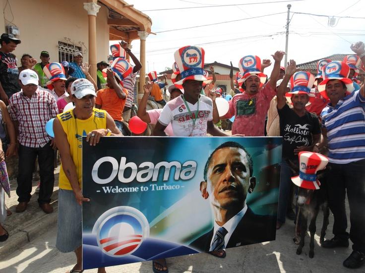 Este es el burro de Obama, el regalo que le quieren dar algunos habitantes de Turbaco, Bolívar.