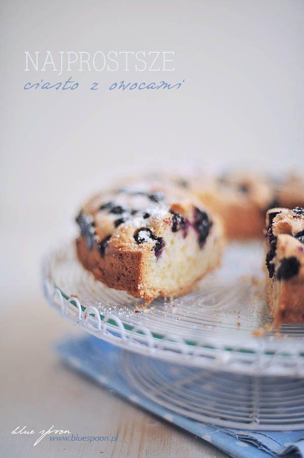 Najprostsze ciasto z owocami