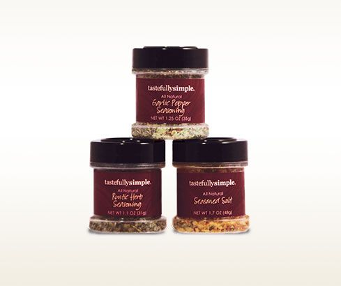 Check out these mini shaker jars of our favorite seasonings in the Spiced! Sampler.