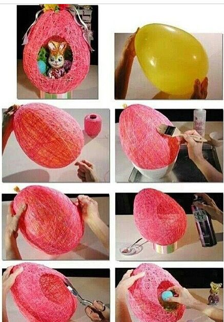 Creative idea:   Bring a balloon, cover it with glue, start wrapping it with wool randomly and leave it until it dries then spray it with hairspray or any spray to strengthen it and pop the balloon. You get this nice nest shaped box.