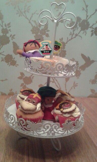 Mmm Cupcakes zelf gemaakt.