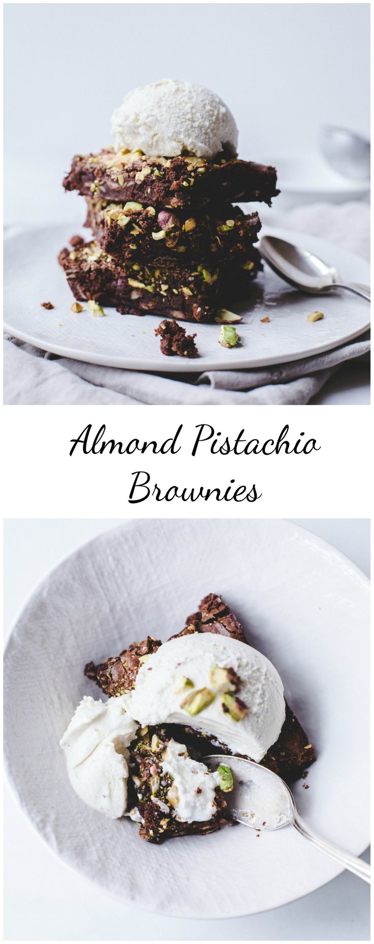 Pistachio Almond Brownies