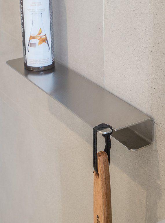 Design Duschablage Edelstahl mit Ablage für Duschabzieher