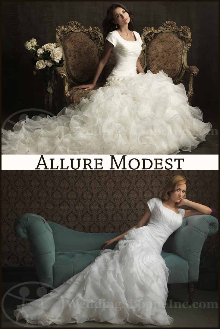 My Wedding Chat » Blog Archive Allure modest wedding dresses: Modern modest wedding gowns at Wedding Shoppe