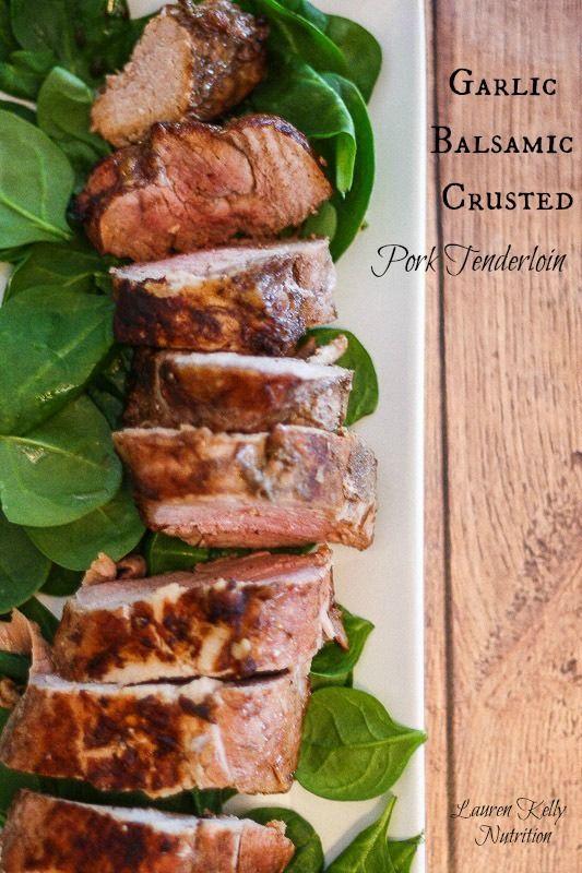 Garlic Balsamic Crusted Pork Tenderloin