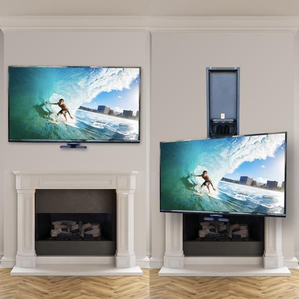 Mm750 Pro Pull Down Tv Mount Tv Mounted Above Fireplace Wall