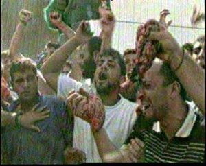 Arabs-waving-entrails-of-butchered-Israelis-in-Ramallah