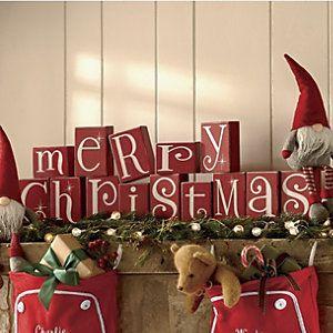 Merry Christmas Blocks ~ Super Cute!
