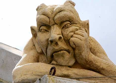 Thoughtful or fed up, grotesque