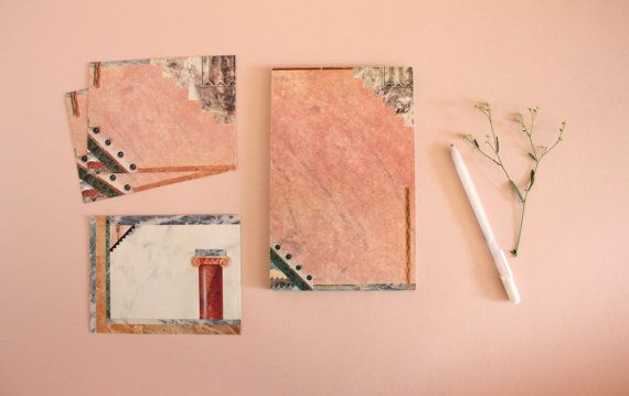 Vintage 1980s Faux Marbled Stationary / Notepad by StyleAward  by Rita Valencia (1987)