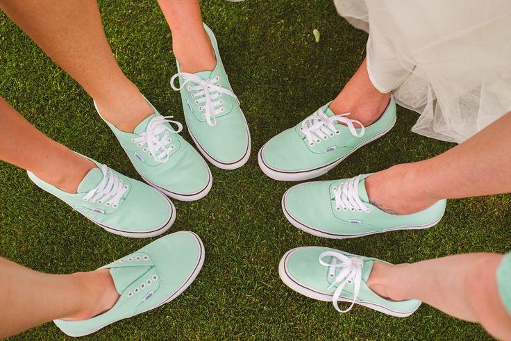 Mint Vans Bridesmaid Shoes