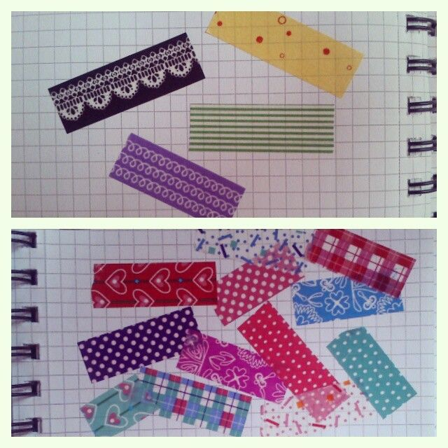 washi tapes and tapes