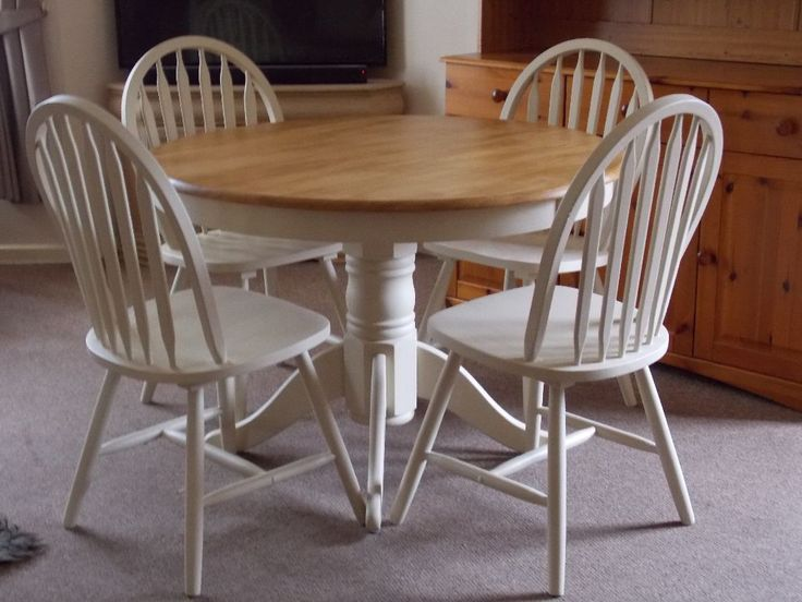 Amazing Top 50 Shabby Chic Round Dining Table And Chairs   Home Decor Ideas UK