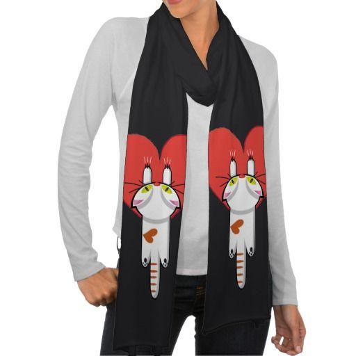Lindo Gatito aferrado al amor. Gato, cat, kitten. Producto disponible en tienda Zazzle. Vestuario, moda. Product available in Zazzle store. Fashion wardrobe. Regalos, Gifts. Día de los enamorados, amor. Valentine's Day, love. Link to product: http://www.zazzle.com/lindo_gatito_aferrado_al_amor_gato_cat_kitten_scarf-256769355630338881?CMPN=shareicon&lang=en&social=true&rf=238167879144476949 #ValentinesDay #SanValentin #love #scarf #bufanda #cat #gato #kitten