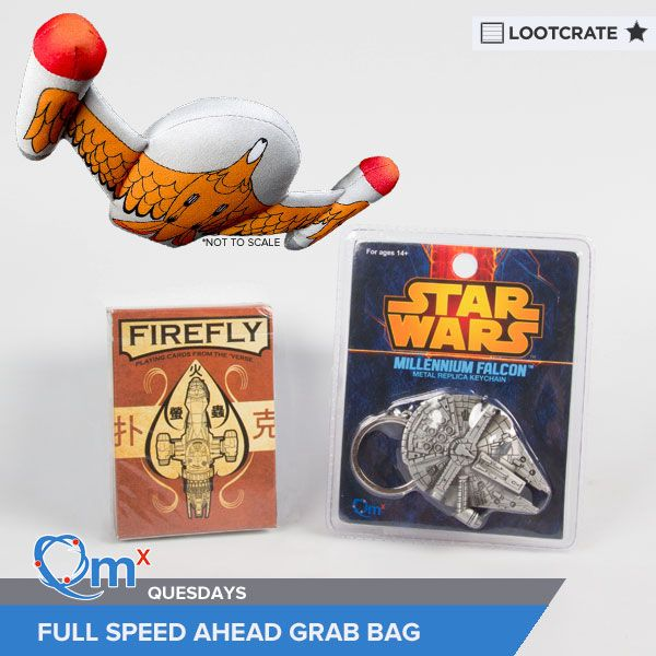 "I'm entered to win the ""Full Speed Ahead"" Grab Bag courtesy of QMx & Loot Crate! #QMxQuesdays"