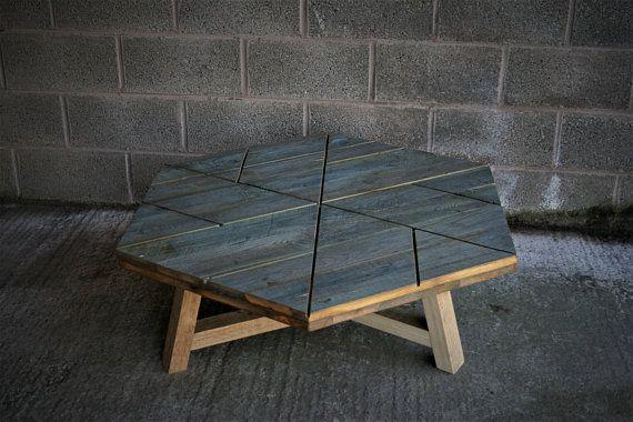 Sechseckige Couchtisch Rustikale Couchtisch Industrielle Tisch