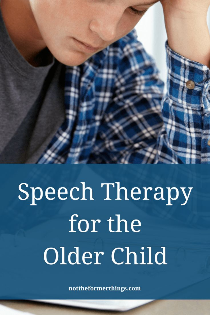 Speech Therapy For The Older Child. Speech Pathology. Speech Delay.