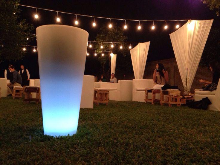 Ambientando la noche con las champagneras luminosas